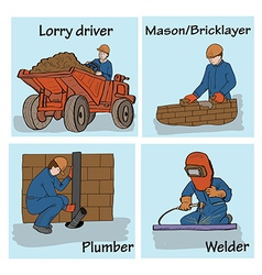 Set of construction workers vector