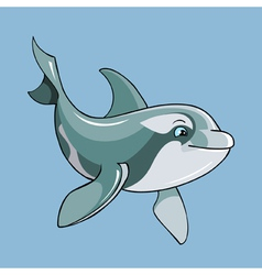 Cartoon cute dolphin vector