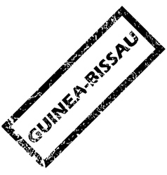 Guinea-bissau rubber stamp vector