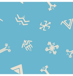 Seamless background with touareg tattoo symbols vector
