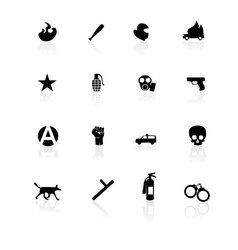 Riot icons vector