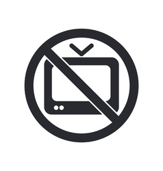 Forbidden tv icon vector
