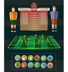 Soccer match statistics vector