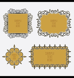 Creative vintage sticker or label design vector