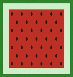 Pattern with watermelon surface vector