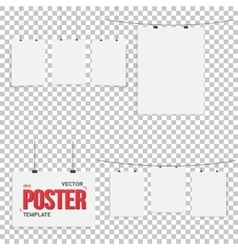 Isolated poster mockup set realistic eps10 vector