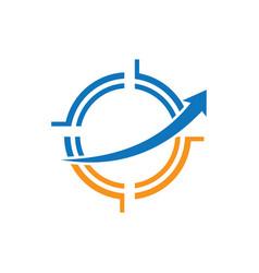 abstract circle logo design vector image
