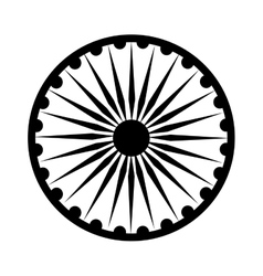 Ashoka chakra symbol vector