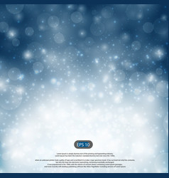 Christmas blue and snow falls details background vector