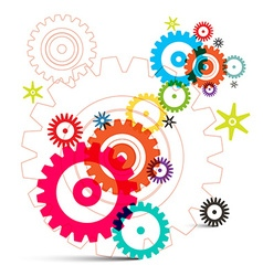 Cogs - Gears - Wheals vector image