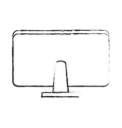 Computer monitor rearview office supplies icon vector