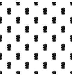 Crumpled tin can pattern simple style vector