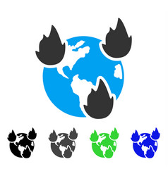 earth disasters flat icon vector image