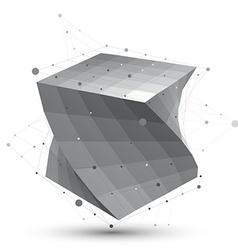 Futuristic techno black and white stylish vector