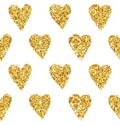Golden heart glitter background vector