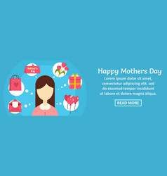 happy mothers day banner horizontal concept vector image vector image