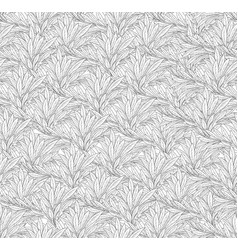 Leaves pattern abstract line seamless backgound vector