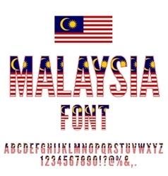 Malaysia flag font vector
