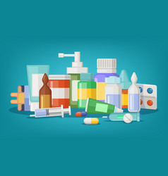 pharmaceutical of medical vector image vector image
