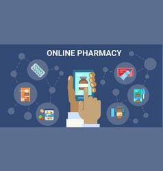 pharmacy online medical consultation doctor health vector image vector image