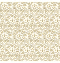 Seamless flower lace made of lines vector image vector image