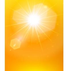 Sunshine background orange poster vector