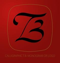 TB logo monogram vector image