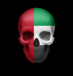 Uae flag skull vector