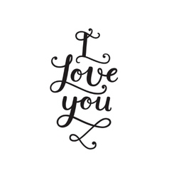 Valentine card with handdrawn lettering vector