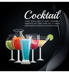 Menu cocktails list bar vector