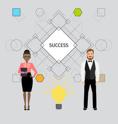 Success concept with business people vector