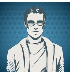 Stylish young guy portrait vector image