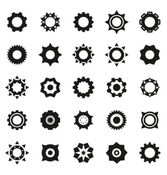 Gears icons set vector