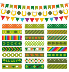 St Patricks Day decoration and tapes vector image