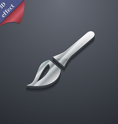 Paint brush artist icon symbol 3d style trendy vector