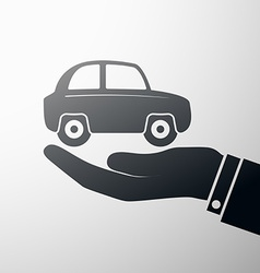 Holding a car vector