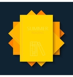 Modern concept sun and books summer vector