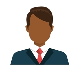 Executive businessman profile isolated icon vector