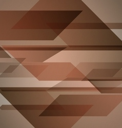 Abstract brown background with geometric shapes vector image vector image