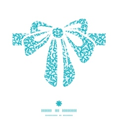 Abstract underwater plants gift bow silhouette vector