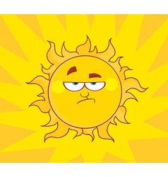 Angry Sun vector image vector image