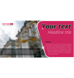 Business flyer template with blur background for vector