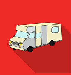 Campervan icon in flat style isolated on white vector