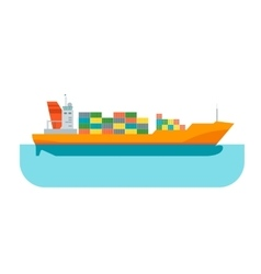 Cartoon cargo ship vector