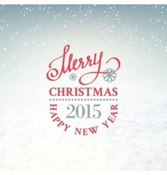 Christmas snow environment vector image vector image