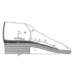 Dress shoe are made of leather vintage engraving vector