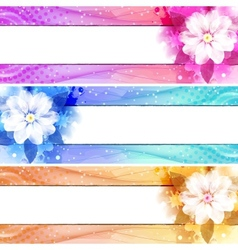 Flower banner set vector