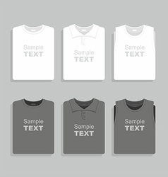 Folded t-shirts set vector image vector image