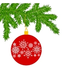 Fur tree branch vector image vector image