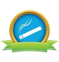 Gold cigarette logo vector image